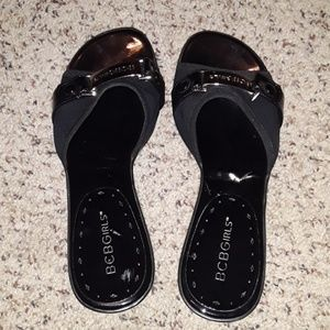 BCBGirls Black Heels-Gently Used